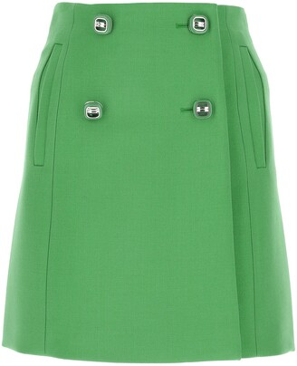 Prada Buttoned Mini Skirt