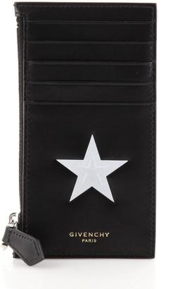 Givenchy Zipped Card Holder Embellished Leather