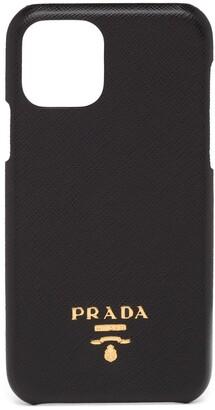 Prada logo plaque iPhone 11 Pro case