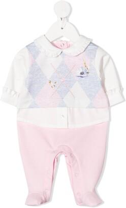 Lapin House Argyle-Panelled Pajamas
