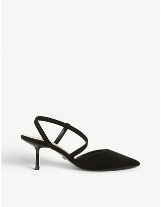 Dune Colombia heeled suede courts