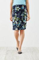 J. Jill Ponte Knit Printed Pencil Skirt
