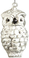 HomArt Small Snow Owl Glass Ornament