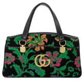 Gucci Medium Arli Floral Chenille Jacquard Top Handle Bag