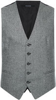 Tagliatore houndstooth waistcoat - men - Cupro/Wool - 44