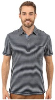 True Grit Short Sleeve Stripe Polo w/ Pocket Genuine Indigo Knit
