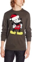 Disney Men's Mickey Santa Hat Sweater