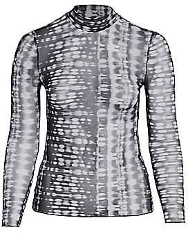 Baacal, Plus Size Women's Tie Dye Mesh Crop Top