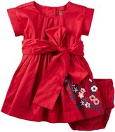 Tea Collection Akira Embroidered Dress (Baby) - China Red - 18-24 Months Baby - 18-24 Months