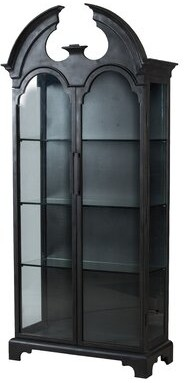 A&B Home 2 Door Cabinet - Rustic Black