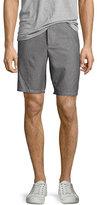 Rag & Bone Beach II Plaid Shorts, Black/White