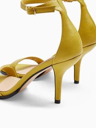 Topshop Sage Curved Heel Sandals - Yellow
