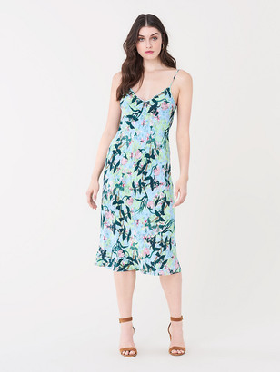 Diane von Furstenberg Annalyse Reversible Crepe Slip Dress