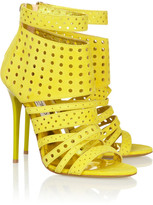 Jimmy Choo Malika perforated suede sandals
