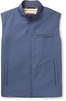 Loro Piana - Slim-fit Suede-trimmed Quilted Storm System Shell Gilet