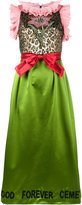Gucci flower bow dress - women - Silk/metal/glass - 36