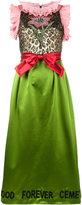 Gucci flower bow dress - women - Silk/metal/glass - 36