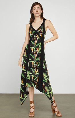 BCBGMAXAZRIA Bird of Paradise Strappy Dress