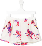 MSGM animal print shorts - kids - Cotton/Polyester - 6 yrs