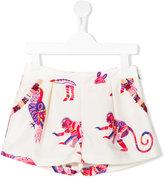 MSGM animal print shorts - kids - Polyester/Cotton - 4 yrs