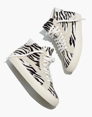 Madewell Sidewalk High-Top Sneakers in Zebra Calf Hair