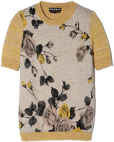 Rochas Short-Sleeve Sweater in Medium Yellow, Size IT 40
