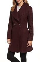MICHAEL Michael Kors Women's Missy Double Breasted Wool Blend Swing Coat