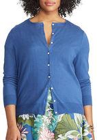 Chaps Plus Button-Front Cardigan