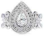 Vera Wang LOVE Ribbons & Bows - diamond engagement ring