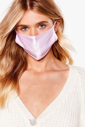 Nasty Gal Womens Game Face Spotty Fashion Face Mask - Pink - ONE SIZE, Pink
