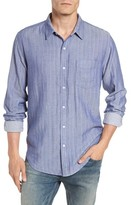 Rails Men's Isaac Stripe Chambray Sport Shirt