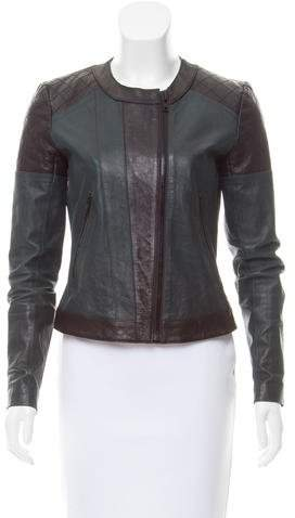 Theory Bicolor Leather Jacket
