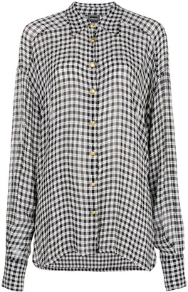 Versace Pre-Owned Gingham Checked Shirt