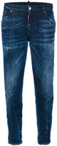 DSQUARED2 distressed boyfriend jeans - women - Cotton/Polyester/Spandex/Elastane - 38