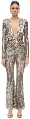 Sequin Embellished Flared Jumpsuit