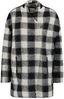 Joie Cyrene checked wool-blend coat