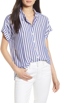 Faherty Avery Stripe Button Front Shirt