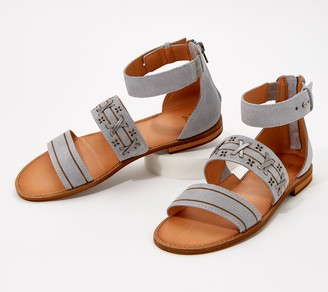 frye & co. Whipstitch Ankle Strap Sandals - Evie