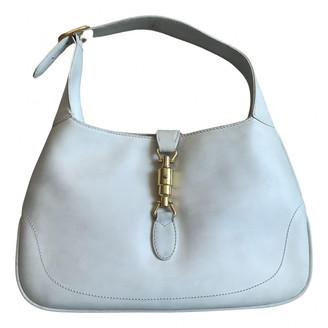 Gucci Jackie Vintage White Leather Handbags