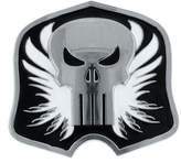 Jewel M Marvel Comics Punisher Logo Black and White Belt Buckle