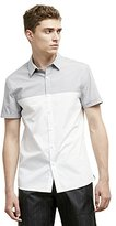 Kenneth Cole New York Men's Short-Sleeve Color-Block Shirt