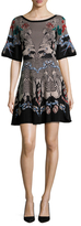 Temperley London Fortune Intarsia Mini Dress