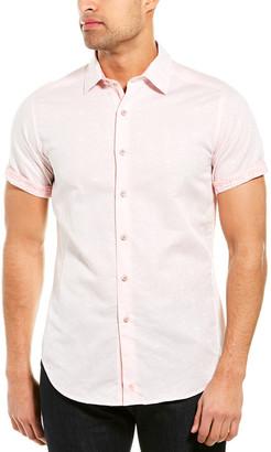 Robert Graham Temple Of Skull Linen-Blend Classic Fit Woven Shirt