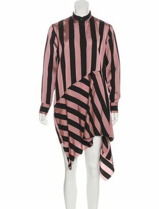 Marques Almeida Striped Midi Length Dress Pink