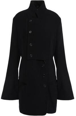 Ann Demeulemeester Lace-up Embellished Wool-blend Crepe Jacket