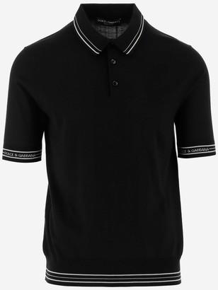 Dolce & Gabbana Logo Stripe Polo Shirt