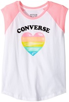 Converse I Heart Raglan Tee (Big Kids)