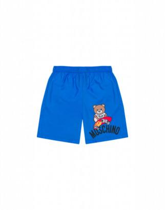 Moschino Skateboarder Teddy Bear Beach Boxer Man Blue Size 6a It - (6y Us)