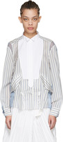 Sacai Off-white Striped Shirt