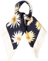 Salvatore Ferragamo Silk Sunflower Scarf w/ Tags